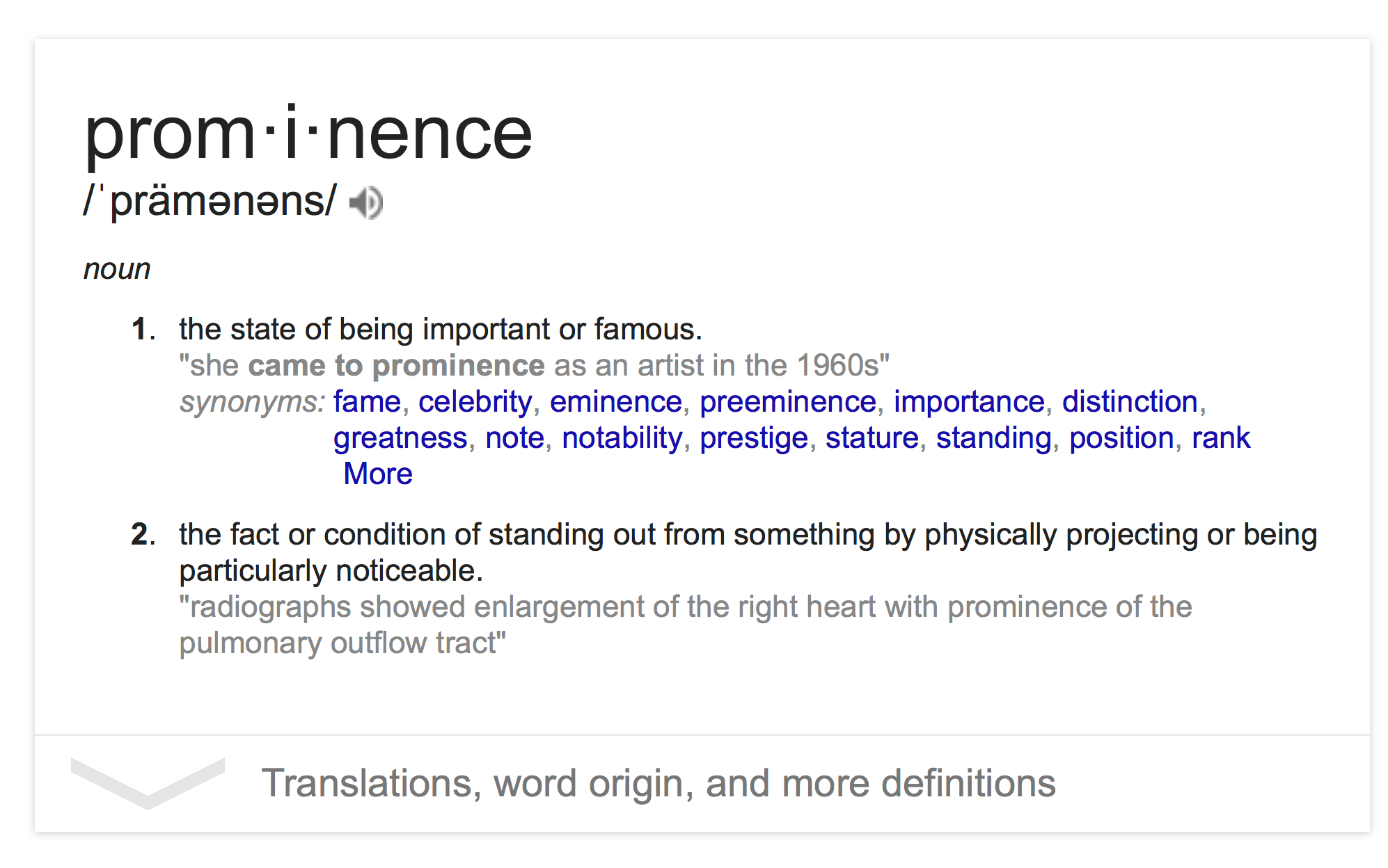 Google Prominence