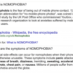 Definition of Nomophobia