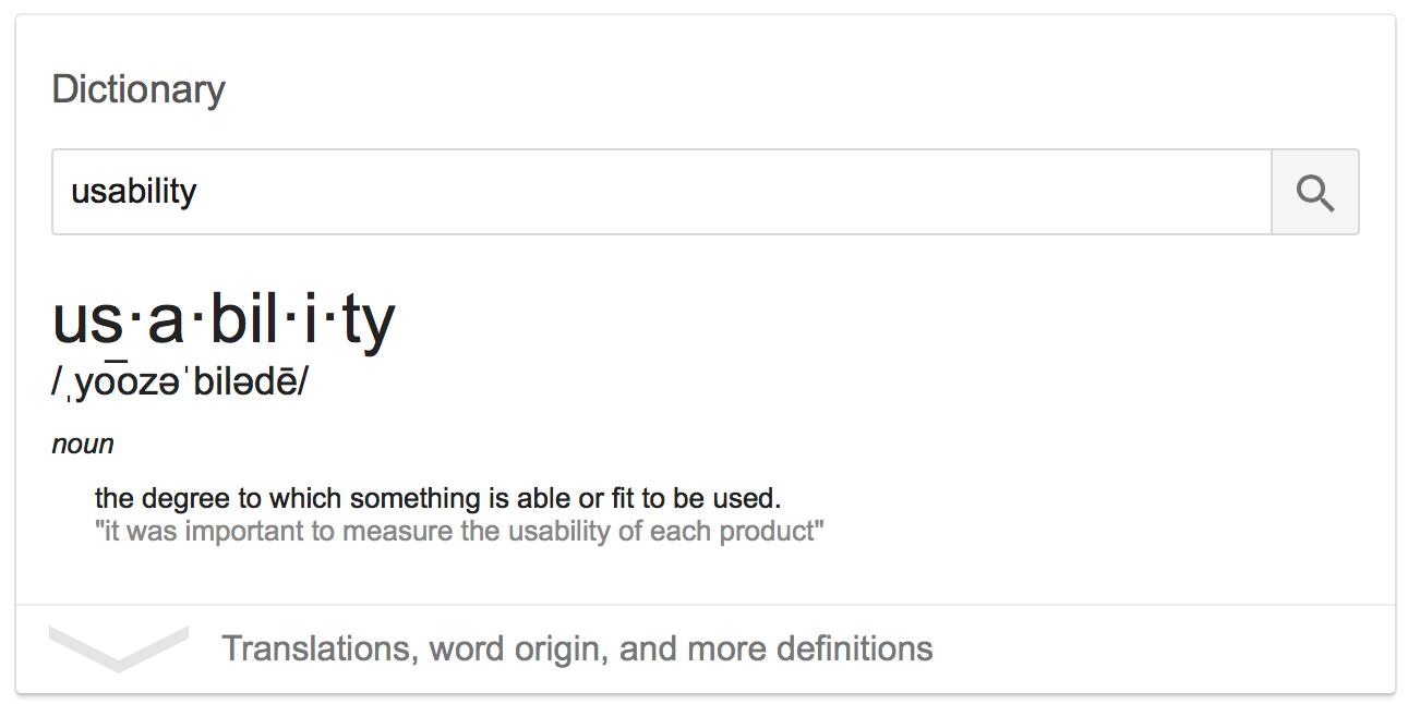 Usability Definition
