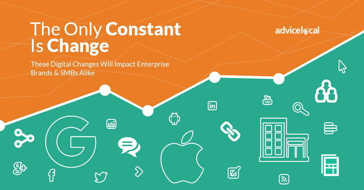 The Only Constant Is Change – These Digital Changes Will Impact Enterprise Brands & SMBs Alike
